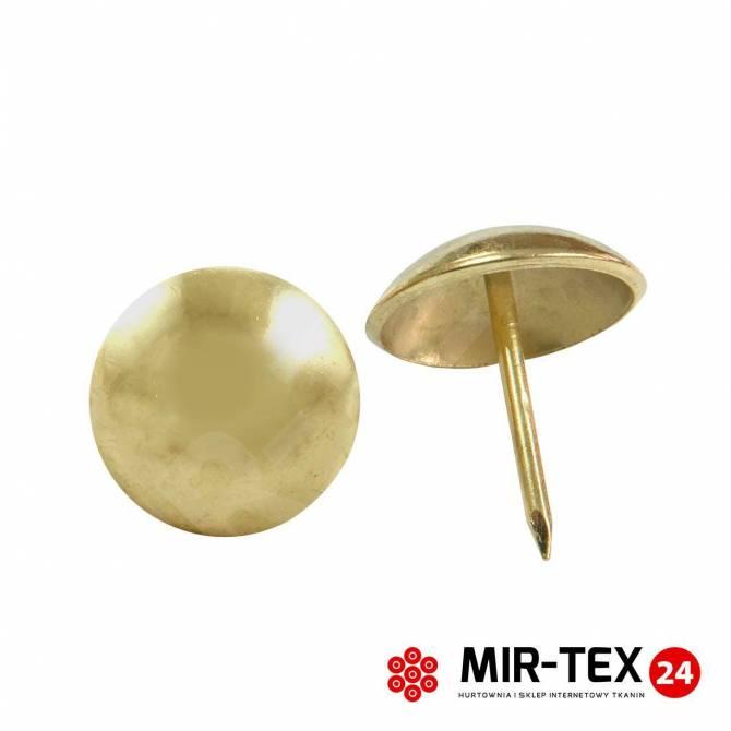 Gładka pinezka złoto 9,5 mm - 100 sztuk KP 4031