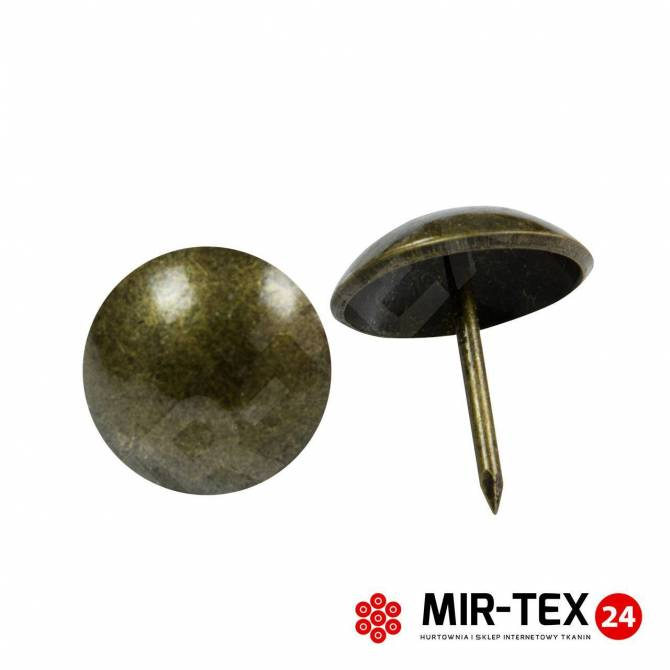Gładka pinezka mosiądz 9,5 mm - 100 sztuk KP 4041