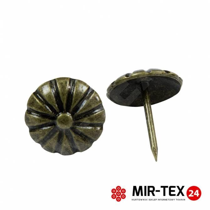 Pinezka kwiatek mosiądz 11,3 mm - 75 sztuk KP 4082