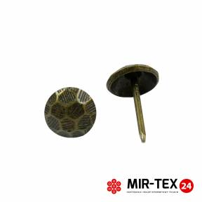 Pinezka piłka mosiądz 11 mm - 75 sztuk KP 4144
