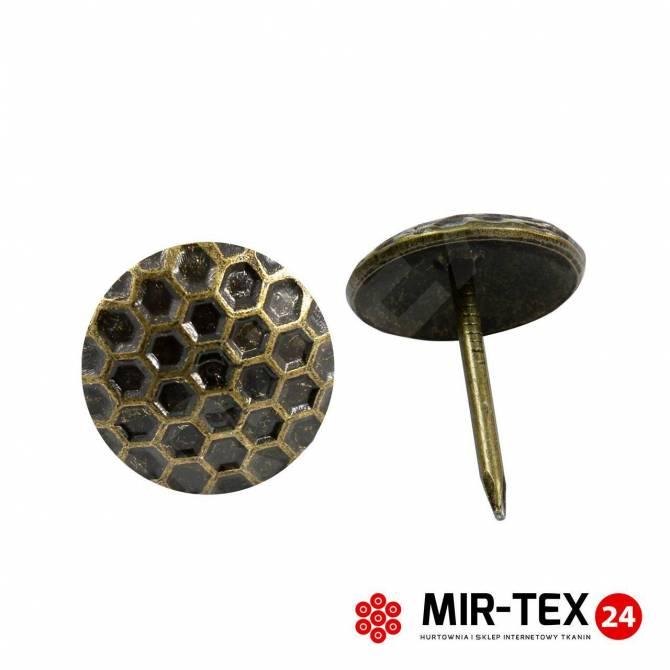 Pinezka plaster miodu mosiądz 16 mm - 30 sztuk KP 4181