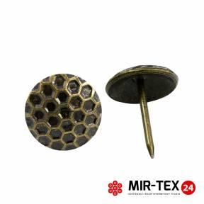 Pinezka plaster miodu mosiądz 19 mm - 20 sztuk KP 4182