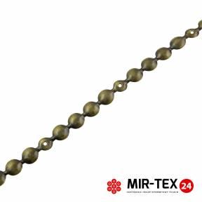 Taśma pinezka gładka mosiądz 9,5 mm - KT 5061