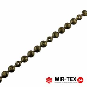 Taśma pinezka gładka moro czarne 9,5 mm - KT 5071