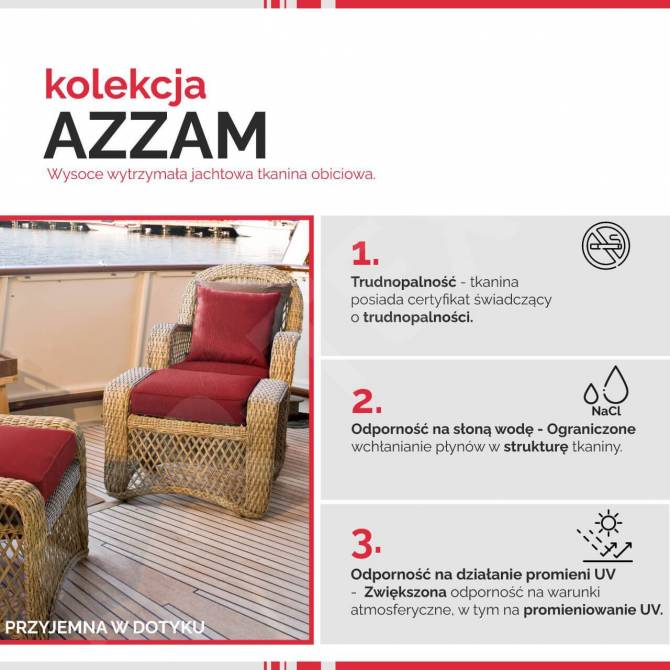 Kolekcja tkanin Azzam
