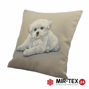 Poszewka na poduszkę 45x45 Biały piesek 337