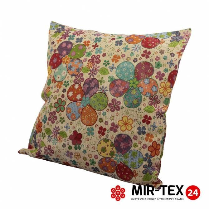 Poszewka na poduszkę Kolorowe kwiaty 304
