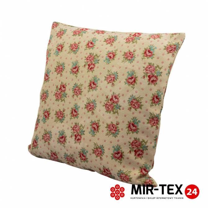 Poszewka na poduszkę Róża + kropki 385