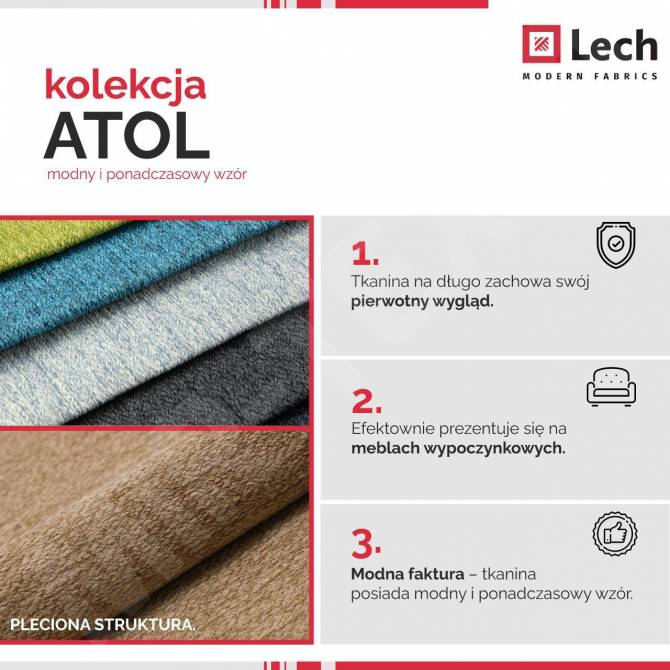 Kolekcja tkanin Atol